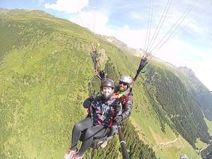 Tandemflug in Ischgl Luftaufnahme