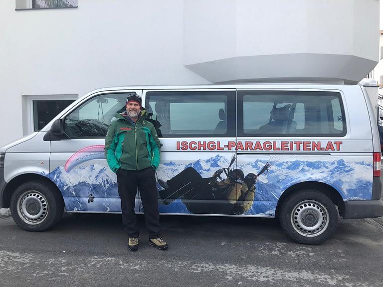 Daniel mit dem Twinfly Tandem Bus