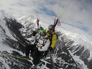 Tandemflug mit Skistart